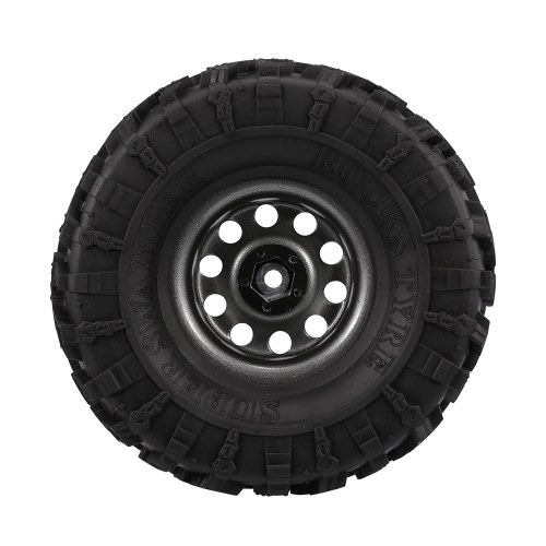 4PCS AUSTAR roues de chenille de roche de 2,2 pouces 132mm avec le centre en métal