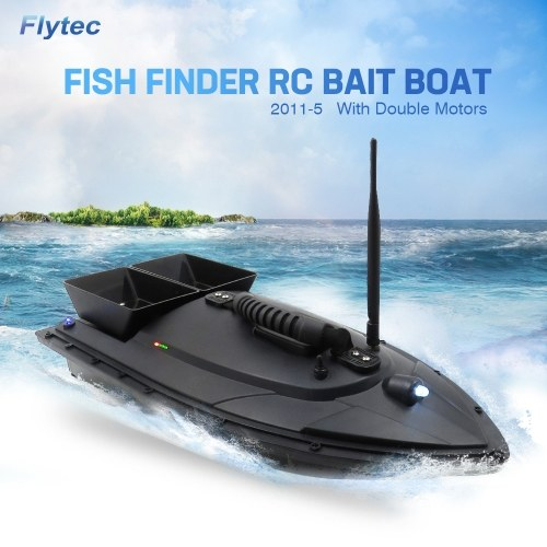 Flytec 2011-5 Fish Finder 1.5kg Loading 500m Remote Control 5.4km/h Double Motor Fishing Bait Boat RC Boat