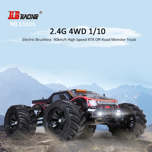 JLB Racing 11101 1/10 2.4G 4WD Electric Brushless 90km/h High Speed Off-road Monster Truck RTR RC Car