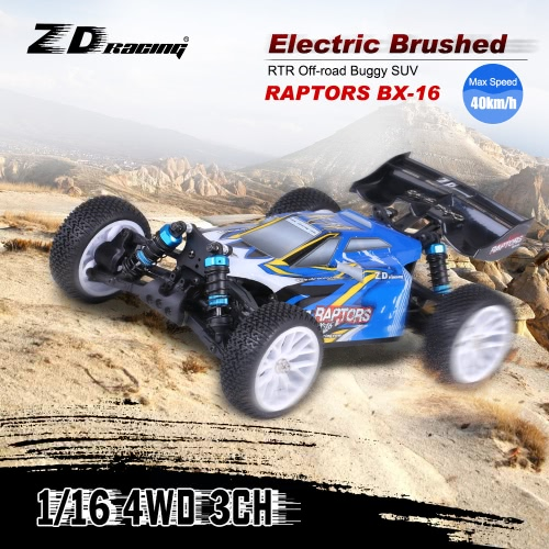 ZD Racing RAPTORS BX-16 1/16 4WD Electric Brushed Buggy SUV Off-road RTR  with 2.4G 3CH Remote Control