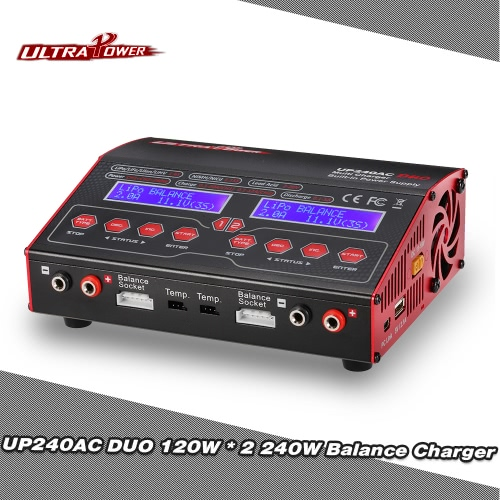Original Ultra Power UP240AC DUO 240W 2in1 LiPo NIMH NiCd Battery RC Balance Charger Discharger