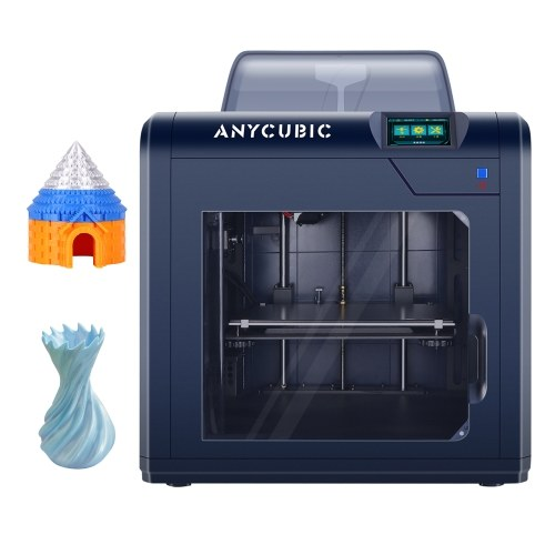 ANYCUBIC 4Max Pro 2.0 Desktop 3D Printer Fully Enclosed Machine 270x210x190mm Build Volume Ultra-Silent Printing with 3.5 Inch Touchscreen Ultrabase Platform Meanwell Power Supply 500g PLA Sample Filament Support Resume Printing Filament Detector Works with PLA ABS TPU
