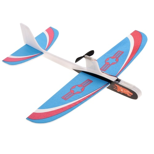 Mini Hand Throw Glider Airplane Aircraft Outdoor Sports Flying Toy DIY Kit for Kids Beginners