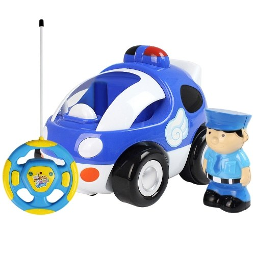 RC Cartoon Race Car with Music and Lights Electric Radio Control Toy