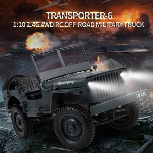 JJR/C Q65 1/10 2.4G 4WD RC Off-road Military Truck