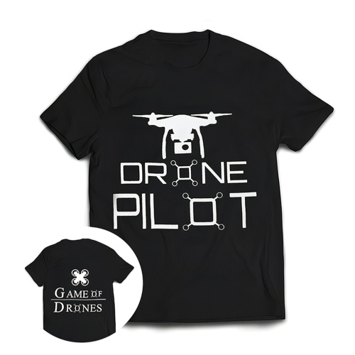 STARTRC Drone Pilot T-Shirt Pure Cotton Short Sleeve Shirt for RC Drone Fans Profession Lovers