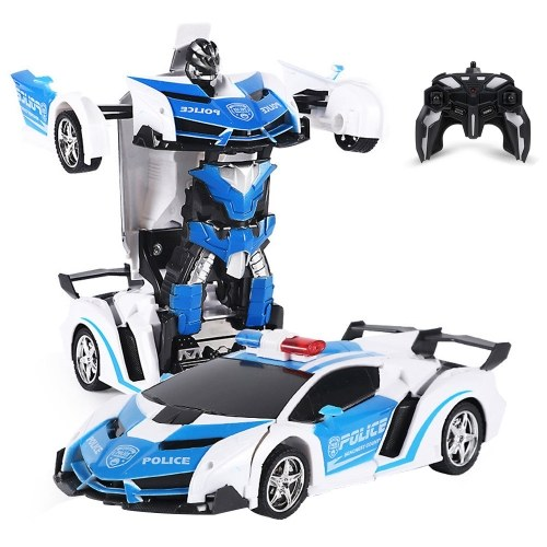 278 Deformed Car Remote Control Car RC Car 1/18 One-button Deform with LED Light RC Toys Cars