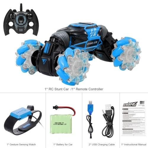 1/16 RC Stunt Car 4WD Watch Gesture Sensor Control Deformable Electric Car
