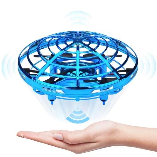 Mini Drone UFO Helicóptero a Mão Quadrocopter Drone Aeronave de Indução Infravermelha Voando Bola Brinquedos Para Crianças