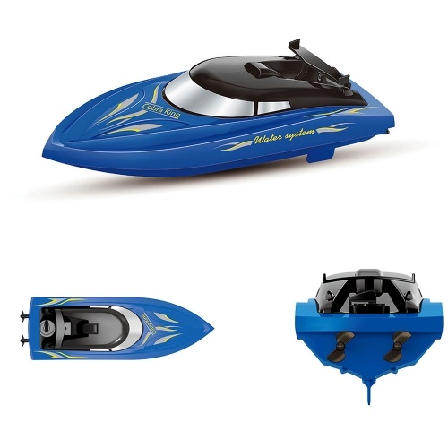 10KM/H High Speed 2 Channels Remote Control Boats for Pools Racing Boat