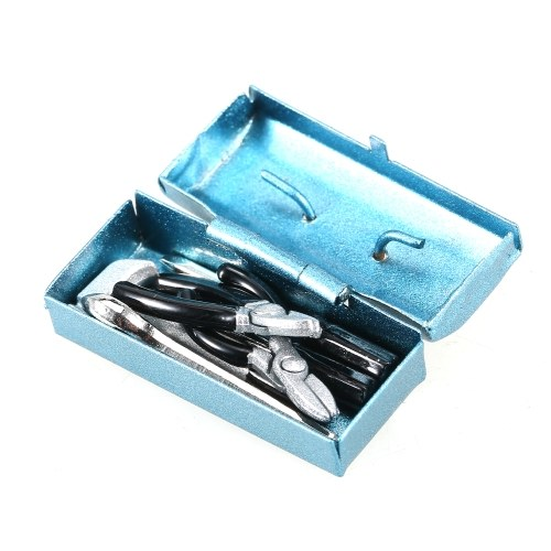 Metal Toolbox 6pcs Mini Repair Tools 1/10 RC Car Decor Accessories Replacement for Traxxas Hsp Redcat Rc4wd Tamiya Axial  scx10 D90 Hpi