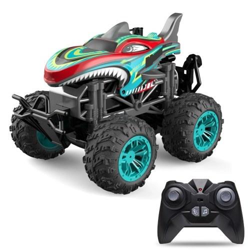 RC Spray Car 1/18 RC Car 2.4Ghz Stunt Car Remote Control Stunt Vehicle Toys with Rear Fog Stream Music LED Light Auto-Play RM13862BL