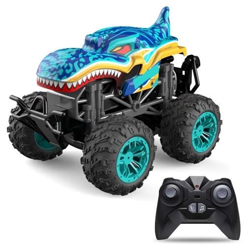 RC Spray Car 1/18 RC Car 2.4Ghz Stunt Car Remote Control Stunt Vehicle Toys with Rear Fog Stream Music LED Light Auto-Play RM13862DBL