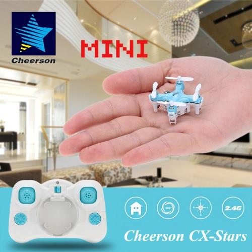オリジナル Cheerson CX-Stars ミニ 2.4G 4CH 6軸 ジャイロ RCクワッドローター UFOドローン 3D反転ヘッドレスモード