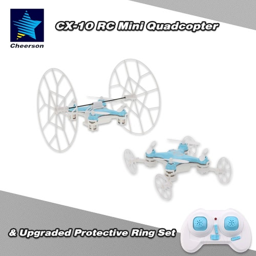 Original Cheerson CX-10 2.4G 6-Axis Gyro RTF Mini Drone with Upgraded Protective Part