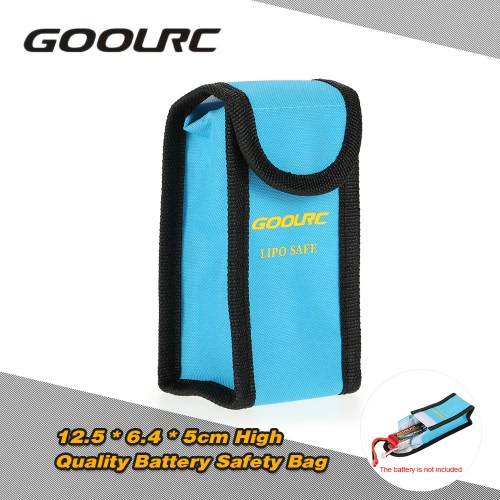GoolRC 12.5 * 6.4 * 5cm High Quality Glass Fiber Explosion-proof Fireproof RC LiPo Battery Safety Bag Safe Guard Charge Sack
