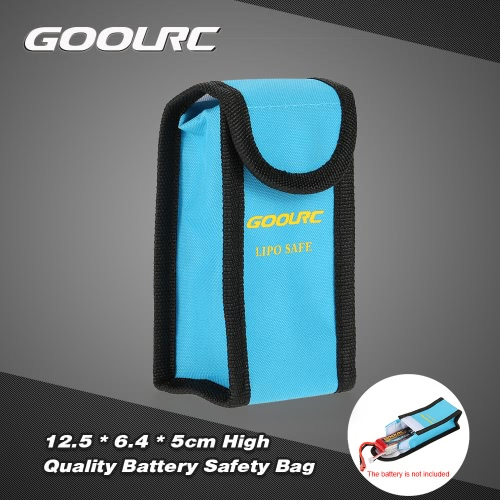 GoolRC 12.5 * 6.4 * 5cm Golden High Quality Glass Fiber RC LiPo Battery Safety Bag Safe Guard Charge Sack