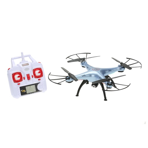 Passa il mouse originale SYMA X5HC 2.4GHz 4CH girobussola 6-axis 2.0 MP HD fotocamera RC Quadcopter con 360 ° di eversione CF modalità funzione