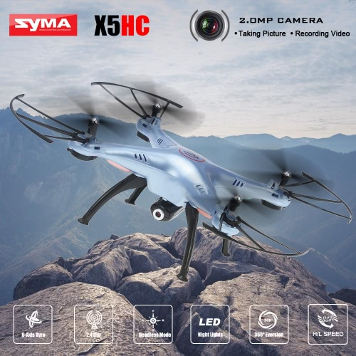 Original SYMA X5HC 2.4GHz 4CH 6-Achs Gyro 2.0MP HD Kamera RC Quadcopter mit 360° Eversion CF-Modus Hover-Funktion