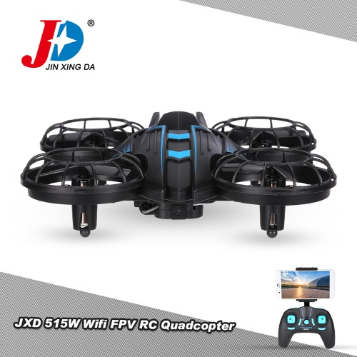 JXD 515W Wifi FPV 0.3MP Camera Drone 2.4G 4CH 6-Axis  RC Quadcopter G-Sensor Selfie Barometer Height Hold RTF