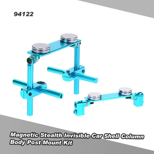 94122 Aluminum Alloy Magnetic Stealth Invisible Car Shell Column Body Post Mount Kit for 1/10 HSP 94122 94123 Sakura D3 XIS ZERO S CS HPI Tamiya On-Road Drift RC Car