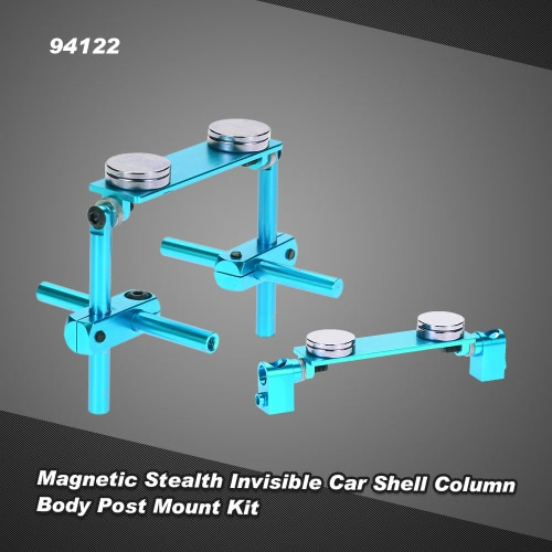 94122 Aluminum Alloy Magnetic Stealth Invisible Car Shell Column Body Post Mount Kit for 1/10 HSP 94122 94123 Sakura D3 XIS ZERO S CS HPI Tamiya On-Road Drift RC Car