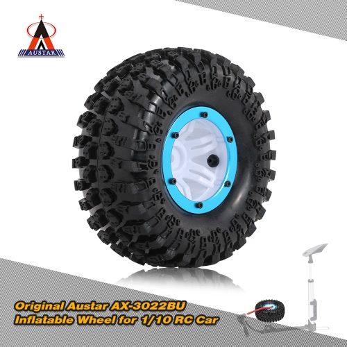 Original-Austar AX-3022BU Air Pneumatic Beadlock Felgen und Reifen für 1/10 RC4WD D90 Axial SCX10 RC Crawler Truck