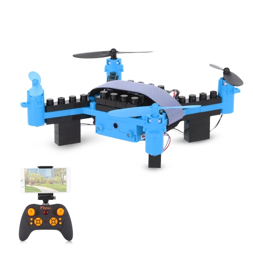 Flytec T11S Wifi FPV 0.3MP Camera Drone 3D flip Headless Mode DIY Building Block Altitude Hold G-sensor Quadcopter