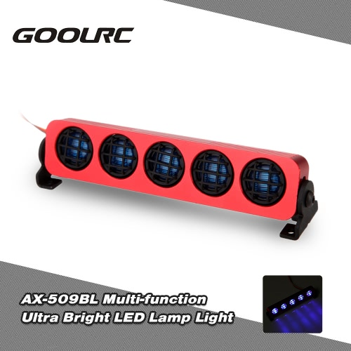 GoolRC AX-509Y Ultra Bright LED Lamp Light for 1/8 1/10 HSP Traxxas TAMIYA Axial SCX10 Monster Truck Short Course RC Car