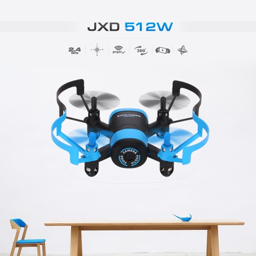 JXD 512W Wifi FPV 0.3MP Camera Drone 2.4G 4CH 6-Axis RC Quadcopter G-Sensor Selfie RTF