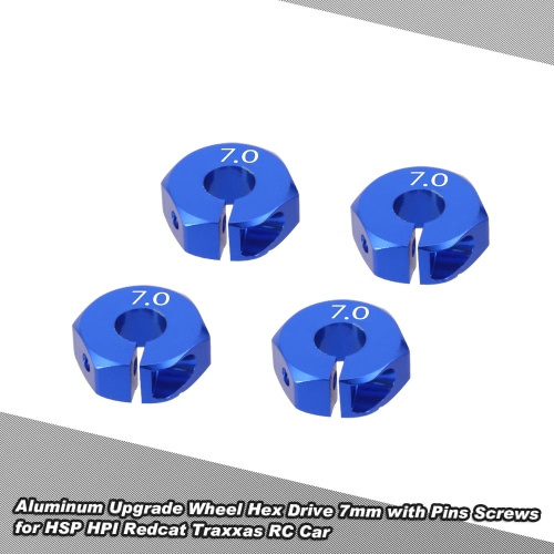 Aluminum Upgrade Wheel Hex Drive 7mm with Pins Screws for HSP HPI Redcat Traxxas RC Car