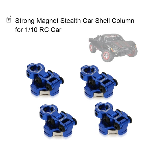 4Pcs Alloy Strong Magnet Stealth Car Shell Column Pillar for 1/10 HSP Redcat Traxxas Axial SCX10 Tamiya CC01 RC4WD D90 D110 TF2 RC от Tomtop.com INT