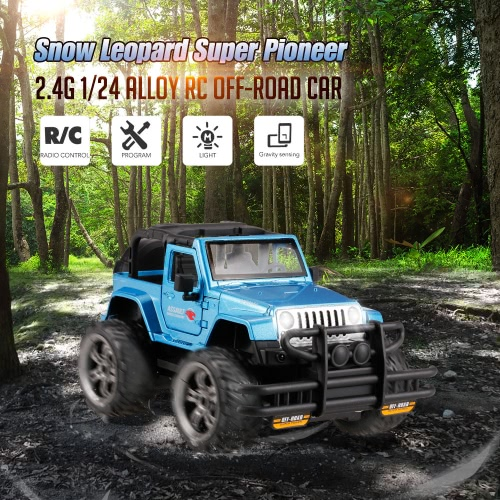 HUI NA TOYS 1369-9 Snow Leopard Super Pioneer Gravity Sensing Programmable Buggy 2.4G 1/24 Alloy RC Off-road Car with Light Image