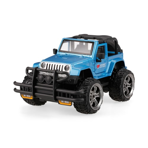 HUINA TOYS 1369-9 Snow Leopard Super Pioneer Gravity Sensing Programmable Buggy 2.4G 1/24 Alloy RC Off-road Car with Light