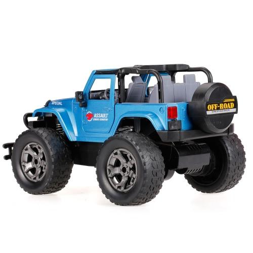 HUI NA JUGUETES 1309-9 2.4G aleación de aluminio 1/12 programable música Off-Road RC Buggy coche G-Sensor Open Door Metal Truck