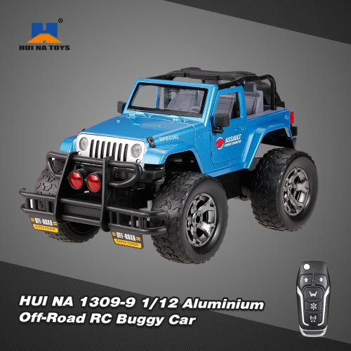 HUI NA TOYS 1309-9 2.4G Aluminium Alloy 1/12 Programmable Music Off-Road RC Buggy Car G-Sensor Open Door Metal Truck