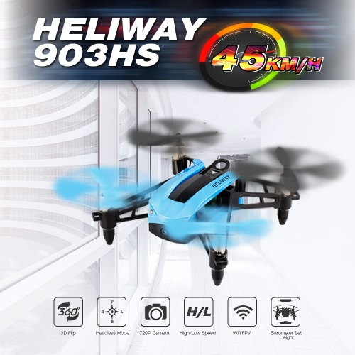 HELIWAY 903HS 720P HD Camera WIFI FPV High Speed Racing Quadcopter Height Hold G-Sensor Selfie Mini Drone RTF