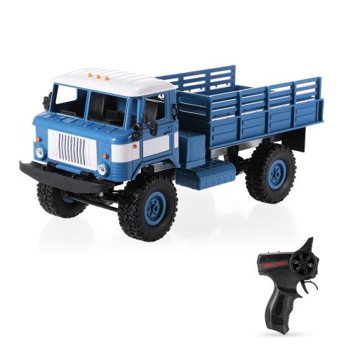 WPL B-24 1/16 2,4 GHz Wojskowych ciężarówek RC Off-road Army samochodów elektrycznych pojazdów ze światłem RTR dzieci prezent