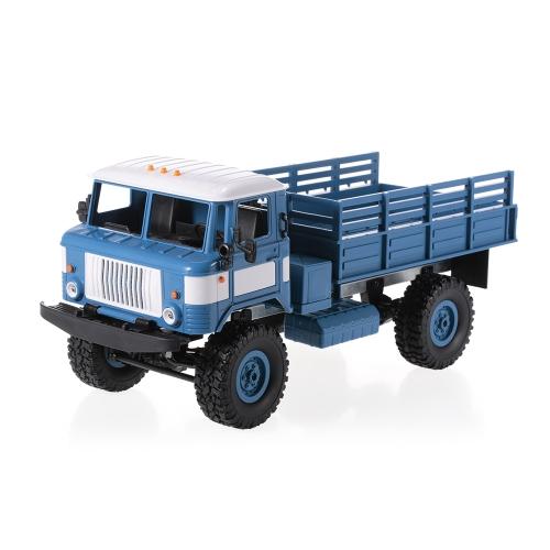WPL B-24 1/16 2.4GHz軍用トラックRC RTR子供用オフロード軍用車電気自動車