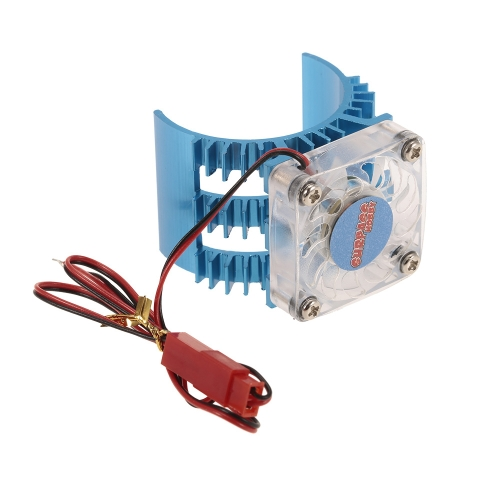 SUPERPASS HOBBY Motor Heat Sink With Cooling Fan for 1/10 HSP HPI Wltoys Kyosho TRAXXAS 36mm Brushed Brushless Motor