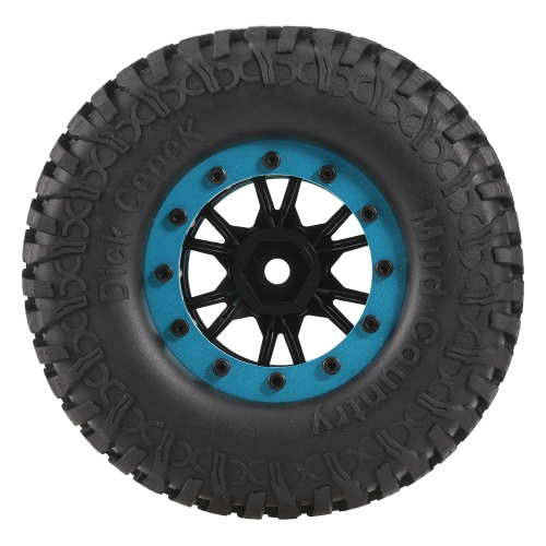 4pcs AUSTAR 3020-3 100mm 1.9in Rim Rubber Tyre Wheel Set for RC4WD D90 CC01 1/10 RC Rock Crawler Car