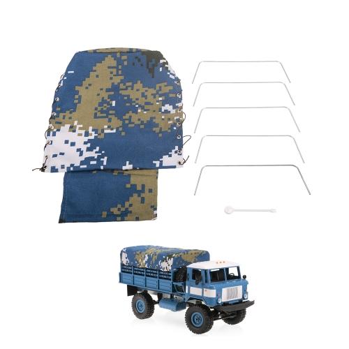 Cubierta de la capilla del camión de la lona para la correa eslabonada de la roca del camión militar de WPL B-24 1/16 RC