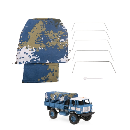 Tela per camion Truck Cover per WPL B-24 1/16 RC Military Truck Rock Crawler