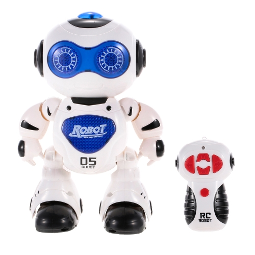 J605 RC Dancing Robot with Music LED Light Enlightment Educational Kids Toy Children Gift