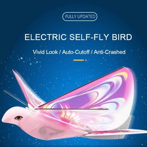 LX-128 E-Bird Self-fly Bird Hand Throw Flying Toy Regalo de Navidad para niños Niños