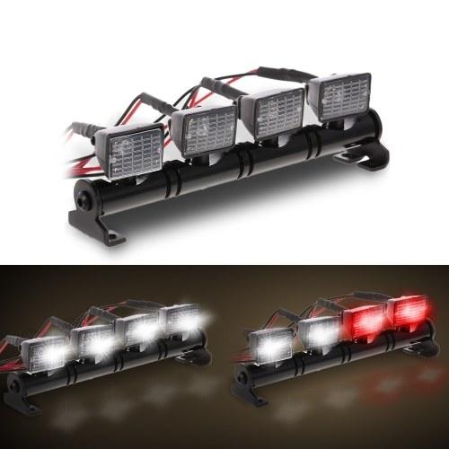 RC Car Square LED luz y cubierta para 1/10 RC Crawler Axial SCX10 D90 110 Traxxas TRX-4 Tamiya HSP RC piezas de automóviles