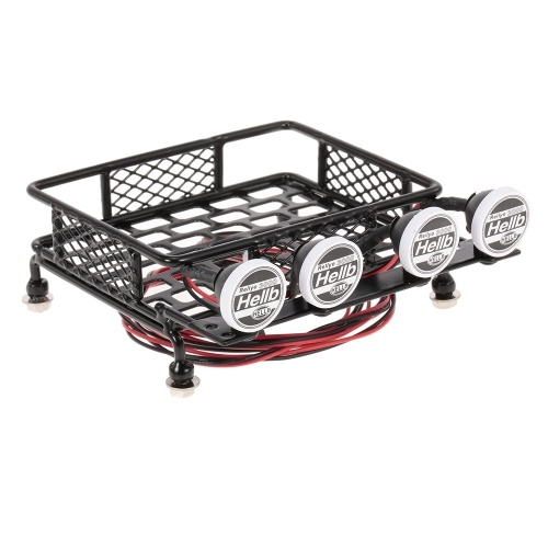 Roof rack luggage carrier with light bar for 110 rc crawler axial roof rack luggage carrier with light bar for 110 rc crawler axial scx10 d90 aloadofball Image collections