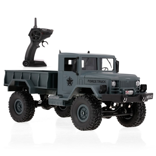 Fayee FY001A 1/16 2.4GHz 4WD 3000G Load Military Truck Off-road RC Car Crawler with LED Headlights for Kids
