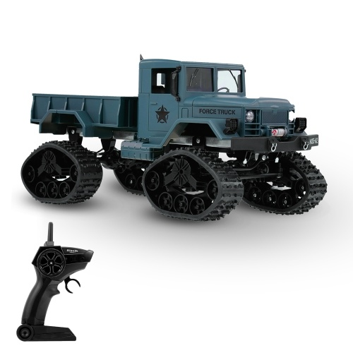 Fayee FY001B 1/16 2.4GHz 4WD 3000G Load Snow Tire Military Truck Off-road RC Car Crawler with LED Headlights for Kids