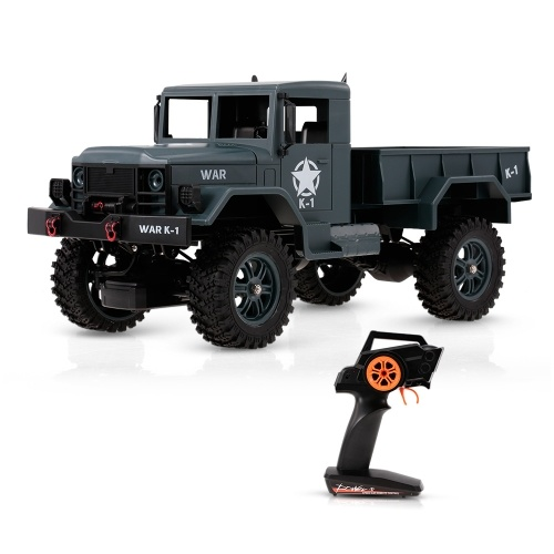 WLtoys 124302 1/12 2.4GHz 4WD Full-Scale Speed 1200G Load Military Truck Off-road RC Car